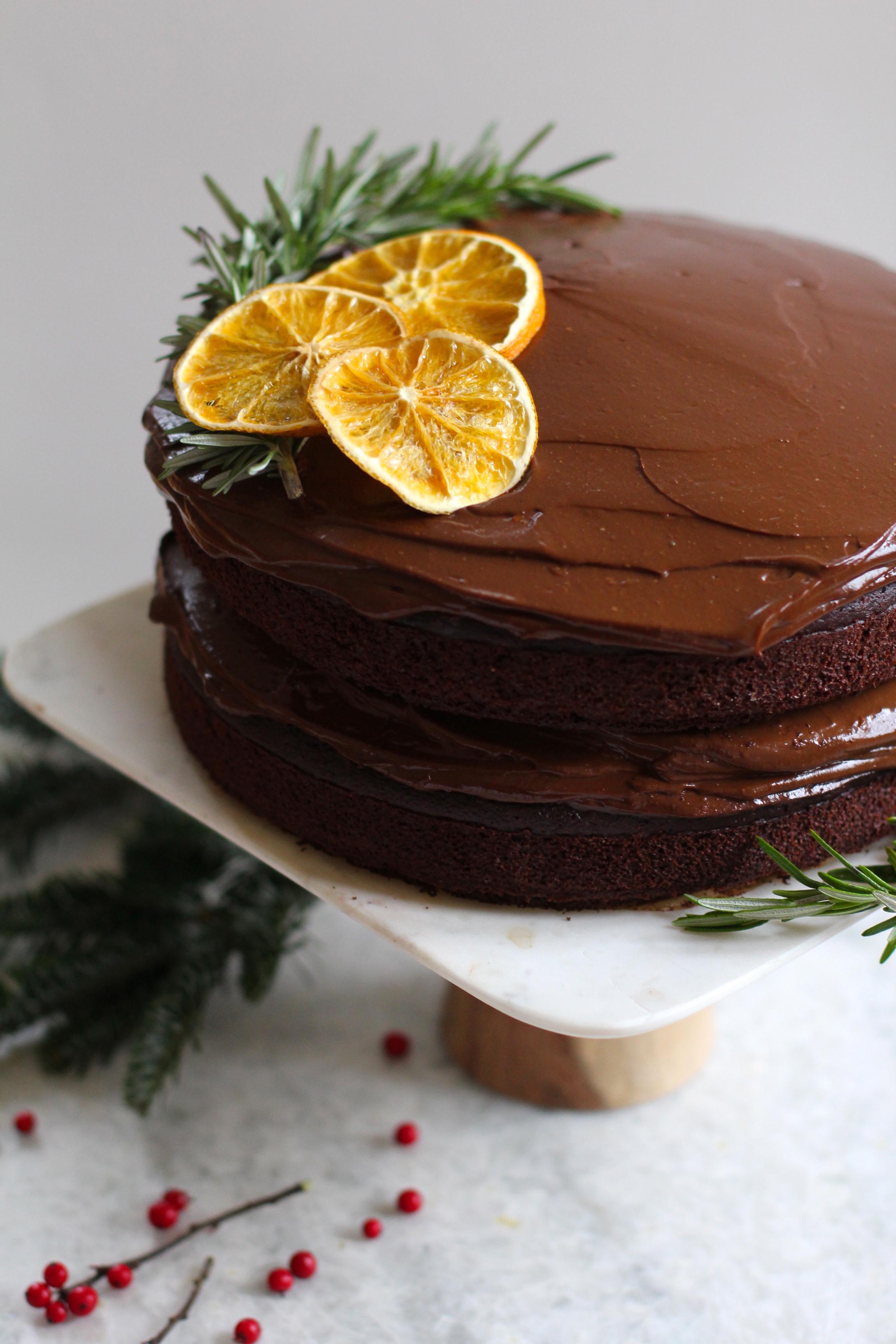 Recipe Box Rosemary Olive Oil Cake with Orange Chocolate Ganache