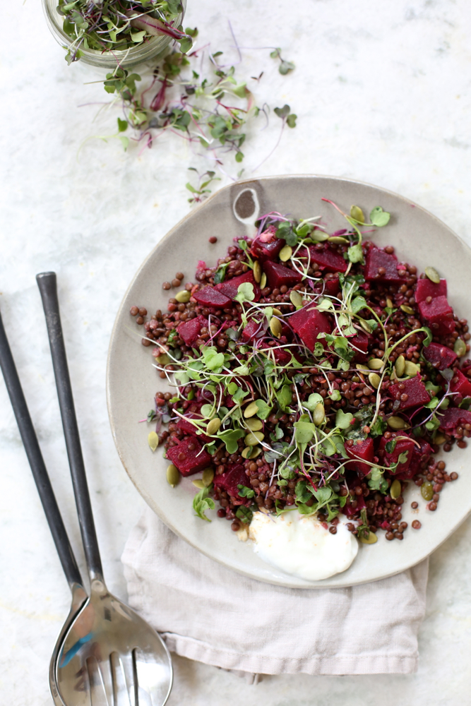 Recipes Spring Beluga Lentil Beet Salad With Coriander Vinaigrette Vidya Living